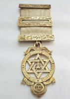 Masonic 1901 Hallmarked Silver Gilt Seal of Solomon Royal Arch Jewel Medal