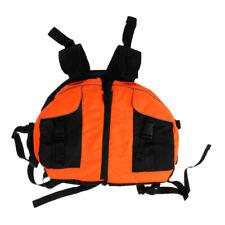 Canoe Kayaking Inflatable Boat Rafting Raft Life Jacket Swim Vest - Orange