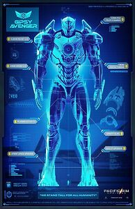 Pacific Rim Uprising movie poster - 11 x 17 inches - Gipsy Avenger - Pacific Rim