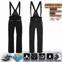 Mens Ski Trouser Windproof Sport Pant Waterproof Snow Winter Salopettes Engrai