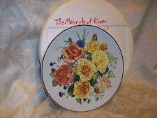 Franklin Mint Rosanne Sanders Plate Radiant Sunrise Majesty Of Roses
