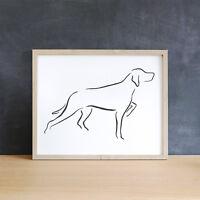Minimalist Pointer Dog Art Print, Pointer Dog Gift, Dog Lover Gift, Wall Art