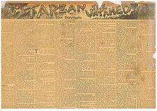 Tarzan  Edgar Rice Burroughs Lord Greystoke Very Rare Piece August 1 1920 B1