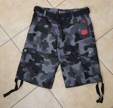 NWT Men's Southpole Camouflage Black /Grey Shorts Size 32