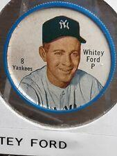 1962 Salada Tea and Junket Desserts Whitey Ford #8 baseball coin