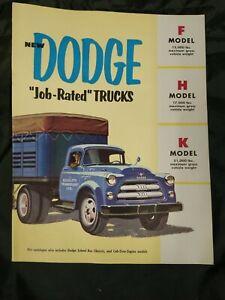 NOS 1956 DODGE MODEL F-K 16 PAGE COLOR DEALER BROCHURE