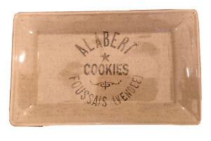 "Home Alabert Cookies Ceramic Rectangle Tray Platter Dish 15"" L x 9"" W x 1 1/2"" T"