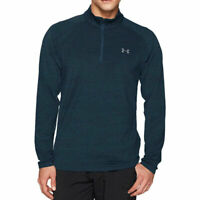 Under Armour UA Mens Playoff 1/4 Zip Blue Sports Golf Pullover Warm Up Top L
