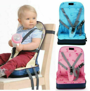 Portable Baby Dinning Booster Seat Travel High Chair Toddler Foldable Cushion UK