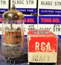 12AY7 RCA 14MM GREY PLATE VINTAGE TUBE (1960's)