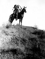 2 Free Promo - Edward S. Curtis Indian holding bow and arrows photo (e1156)