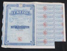 Actions  LE KETOL  PARIS 1926 bond share