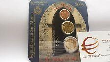 2005 minikit SAINT MARIN 2005 3 pièces 2,22 euro San Marino Сан - Марино