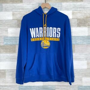 Adidas Golden State Warriors Hoodie Sweatshirt Blue Yellow Mens Small Medium