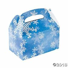NEW SNOWFLAKE FROZEN THEME TREAT BOXES ( 12)