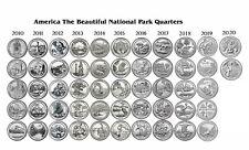 2010-2020 NATIONAL PARK 52 COIN UNC SET Philadelphia - Hot Springs to Weir Farm