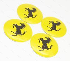 4x 56.5mm Car Wheel Center Covers Hub Caps Accessories Decal Logo For Ferrari