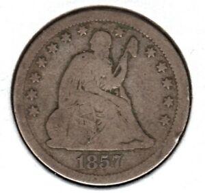 FM 1857 SEATED LIBERTY QUARTER GRADES VERY GOOD  #C2783