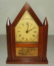 Vintage Working Burroughs No. 49T Steeple Gothic Mini Wind-Up Mantel Shelf Clock