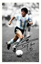 DIEGO MARADONA - ARGENTINA AUTOGRAPHED SIGNED A4 PP POSTER PHOTO
