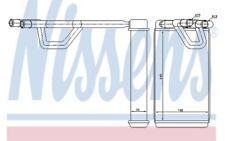 NISSENS Radiador de calefacción 72209