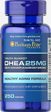 DHEA 25 MG 250 Tablets Athletic Anti-aging Sexual Libido