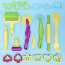 Dough Tools Play Set Modelling Doh Clay Craft Toy Rolling Pins Cookie Cutters UK