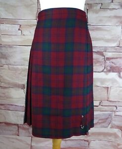 EWM vintage burgundy kilt leather straps tartan to fit size 8 waist 28-29 inches