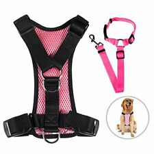 Tuodas Dog Safety Vest Harness, Soft Mesh, Small Pink, New