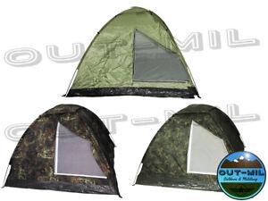 Tenda militare modello Igloo 3 posti campeggio, bosco verde mimetica