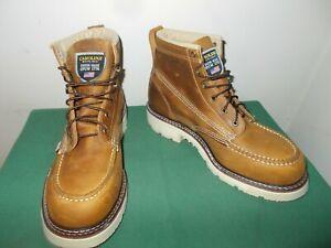 Mens 10 1/2 EE Carolina 6 Inch Steel Moc Toe Work Boot USA Made CA7514 Leather