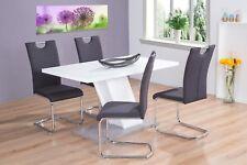 moderner Esstisch 140x80 weiß Beton Säulentisch Esszimmertisch günstig design