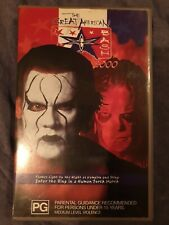 RARE WCW Great American Bash 2000 VHS Non Rental Great Condition