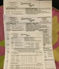 4 QUANTUM OF SOLACE James Bond 2008 call sheets & sides Austria/Pinewood Studios