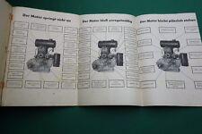 Katalog DKW Betriebsanleitung Motor Bindemäher 1940 Auto Union Chemnitz