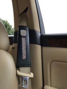 Carbon Fiber Seat Belt Pad Safety Shoulder Strap Cover Cushion Car Accessories