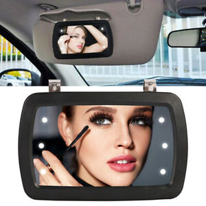 Car Sun Visor Mirror Makeup Sun-shading Cosmetic Mirror Vanity Mirror 6 LEDs