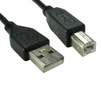 5m USB-2-0 High Speed Cable Long Printer Lead-A-to-B Black Shielded Epson hp