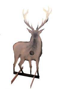 Life Size Reactive Red Stag Hardox 500 Steel Plate Shooting Target