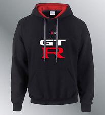 Sweat shirt Hoodie GTR M L XL auto capuche sweatshirt sweater noir-rouge