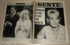 GENTE 1962/40=KIM NOVAK=SUE LYON=CHIVASSO=GINO PAOLI=FANO=FELICE CASORATI=