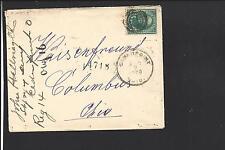CEDAR POINT,OHIO 1899 REGISTERED COVER, HAMILTON CO. 1879/07,