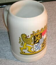 WEST GERMANY GLAZED POTTERY GEPRUFTE BWM QUALITAT BEER MUG 1989