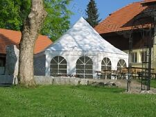 Festzelt Partyzelt 6eck Pagode 41,5m² / 2x Fenster / Weiß / PROFIZELT
