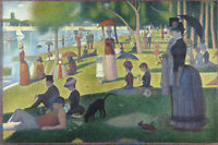 Georges Seurat Sunday Afternoon La Grande Jatte Painting Large Canvas Art Print