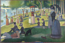 Georges Seurat Sunday Afternoon La Grande Jatte Painting Large Canvas Art Print