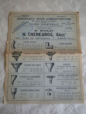 Vintage catalogue 1931 ornemental architecture for roofs drain hoppers metalware