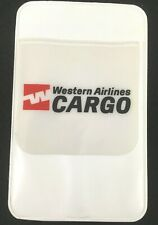 """New ListingWestern Airlines Pocket Protector, """"Western Airlines Cargo"""". Great Shape!"""