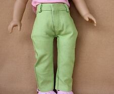 Dolls Clothes fitting 18 in and American Girl Dolls Lime Green Denim Jeans