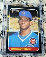 DAVE MARTINEZ 1987 Donruss Rookie Card RC Nationals Nats Manager World Series $$